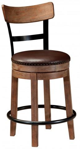 Pinnadel Upholstered Swivel Counter Stool