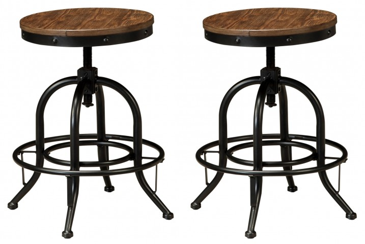 Pinnadel Swivel Counter Stool Set Of 2 From Ashley D542