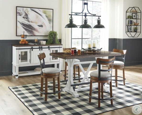 Valebeck White And Brown Counter Height Dining Room Set From Ashley Coleman Furniture