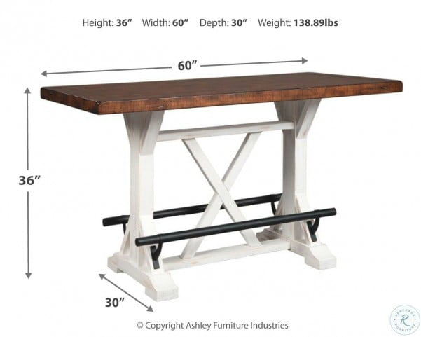 Valebeck White And Brown Counter Height Table From Ashley Homegallerystore Com D546 13