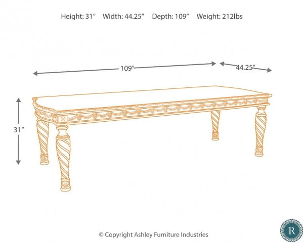 North Shore Rectangular Extendable Dining Table