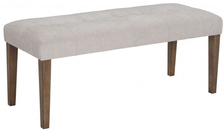 Narvilla Linen Large Upholstered Dining Bench