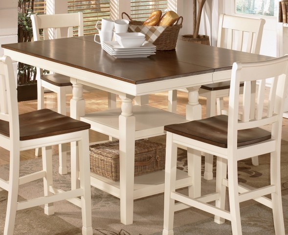 Whitesburg Square Dining Room Counter Extendable Dining Table