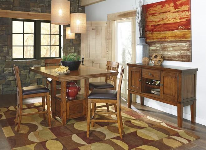 Ralene Rectangular Extendable Counter Dining Room Set