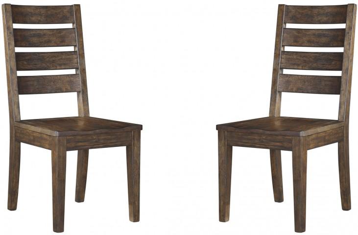 Leystone Dark Brown Dining Room Side Chair Set of 2