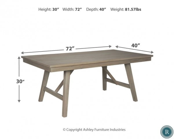 Miraculous Aldwin Gray Rectangular Dining Table Pdpeps Interior Chair Design Pdpepsorg