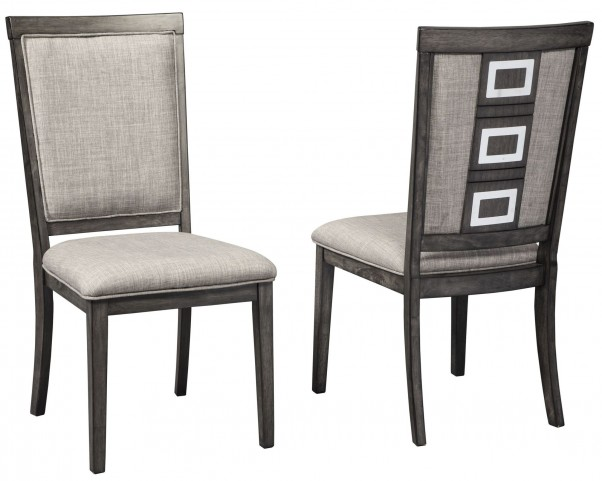 Chadoni Gray Upholstered Side Chair Set of 2