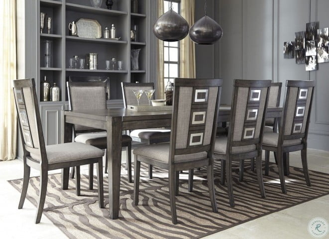 Chadoni Gray Rectangular Extendable Dining Room Set From Ashley Coleman Furniture