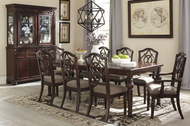 Leahlyn Brown Extendable Rectangular Dining Room Set