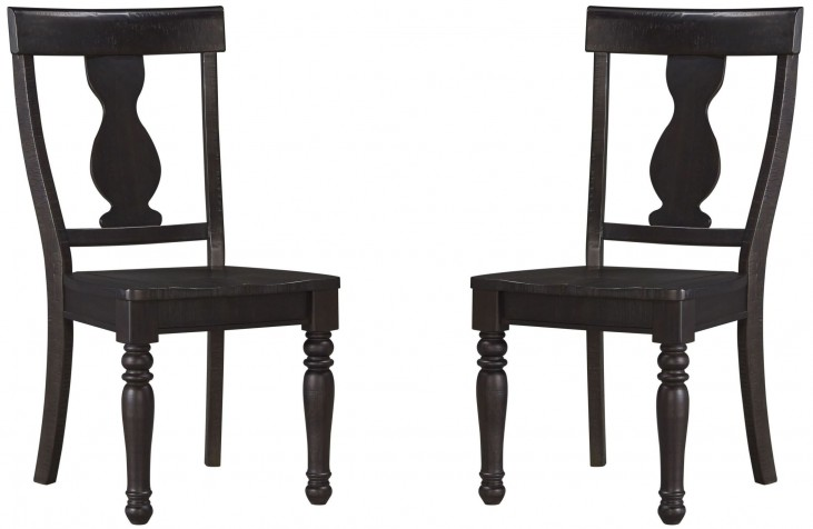 Sharlowe Charcoal Dining Room Side Chair Set of 2