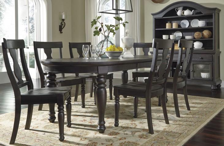 Sharlowe Charcoal Rectangular Extendable Dining Room Set