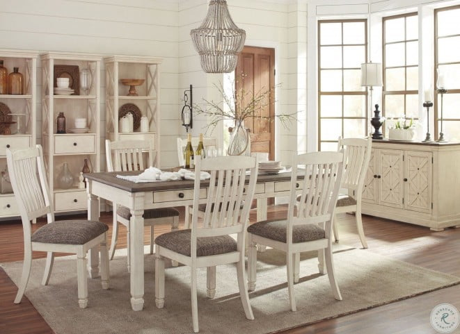 Bolanburg White And Gray Rectangular Dining Room Set From Ashley Coleman Furniture