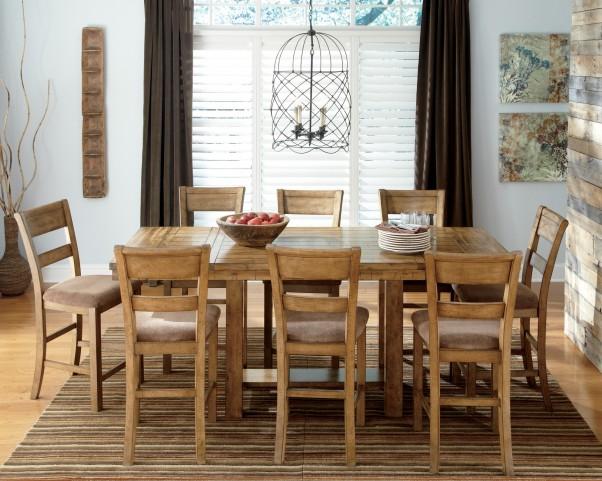 Krinden Rectangular Counter Height Extendable Dining Room Set