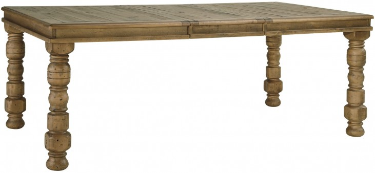 Trishley Brown Extendable Rectangular Dining Table