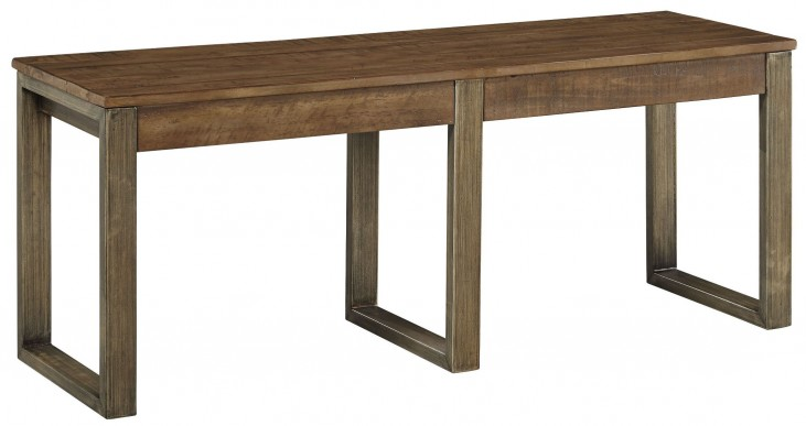 Dondie Brown Dining Bench