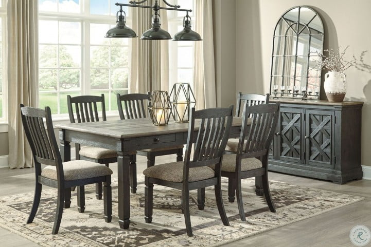 Tyler Creek Black And Gray Rectangular Dining Room Set From Ashley Coleman Furniture