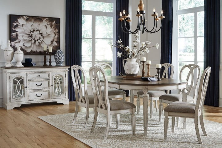 Realyn White Oval Extendable Dining Room Set From Ashley Coleman Furniture