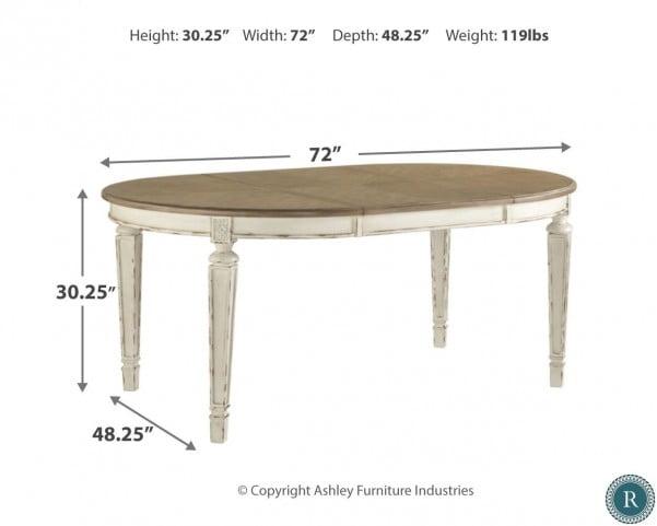 Stupendous Realyn White Oval Extendable Dining Table Short Links Chair Design For Home Short Linksinfo