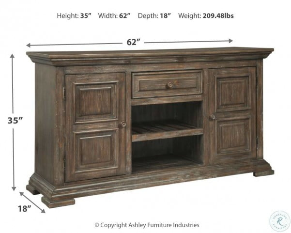 Wyndahl Rustic Brown Extendable Dining Room Set