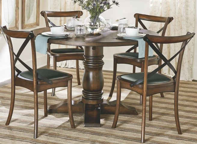Braxton Medium Chestnut Round Dining Table