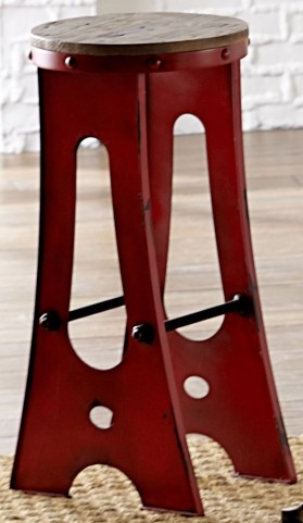"A-Frame Forge 30"" Red Zen Stool"