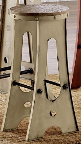 """A-Frame Forge 24"""" White Zen Stool"""