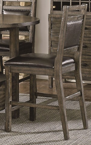 Crossroads Birch Smoke Upholstered Counter Chair Set of 2