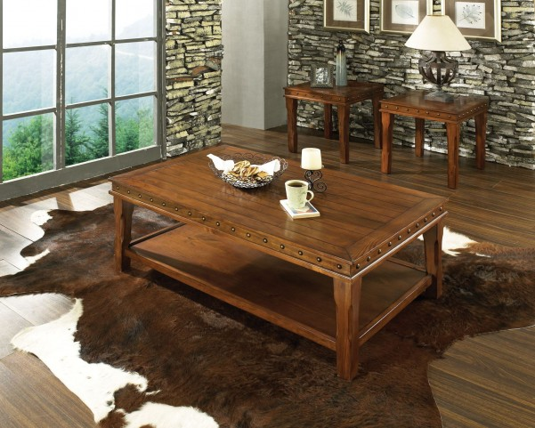 Odessa Honey Pine 3 Piece Occasional Table Set