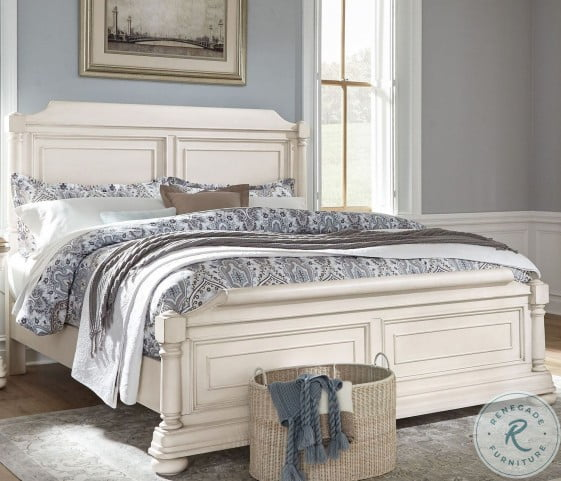 Lafayette White King Sleigh Bed