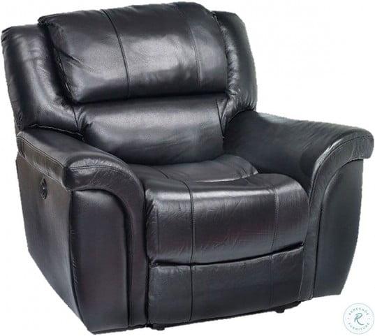 Enjoyable Dawson Black Leather Power Recliner Machost Co Dining Chair Design Ideas Machostcouk