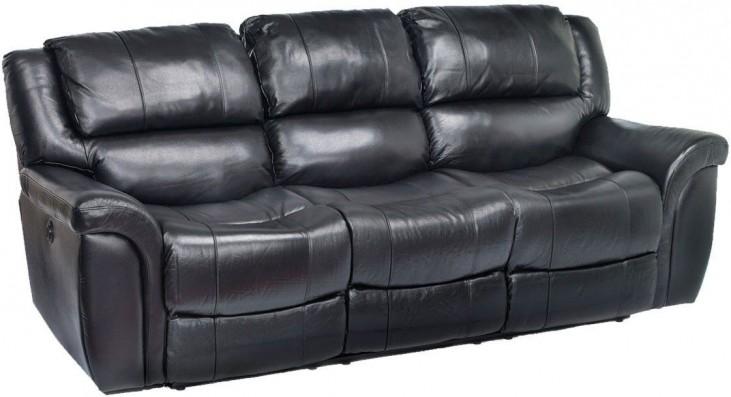 Dawson Black Leather Power Reclining Sofa From Jennifer