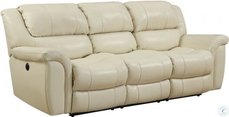 Dawson Cream Leather Sofa Sleeper