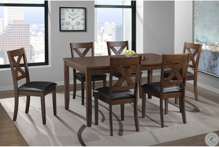Alexa Cherry 7 Piece Dining Room Set From Elements Furniture Coleman Furniture