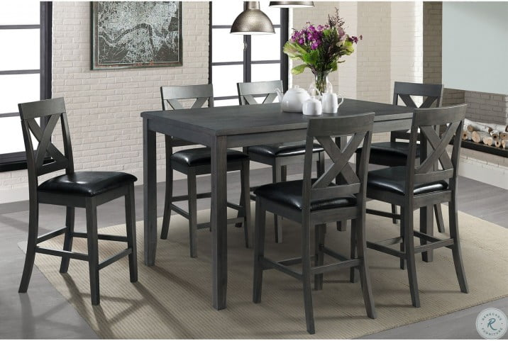 Alexa Gray 7 Piece Counter Height Dining Set From Elements Furniture Coleman Furniture