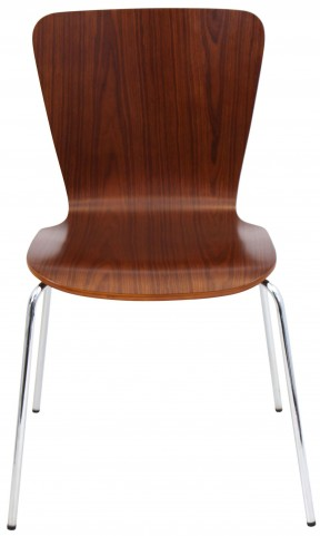 Bentwood Stackable Walnut Dining Chair