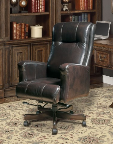 Sable Leather Desk Chair