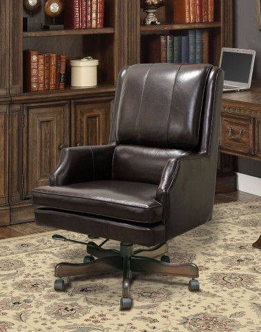 Sable/Brown Leather Desk Chair