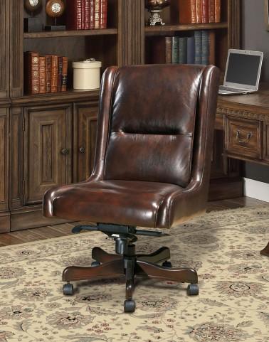 Cigar Leather Desk Chair