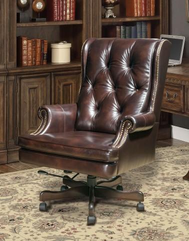 Havana Leather Desk Chair