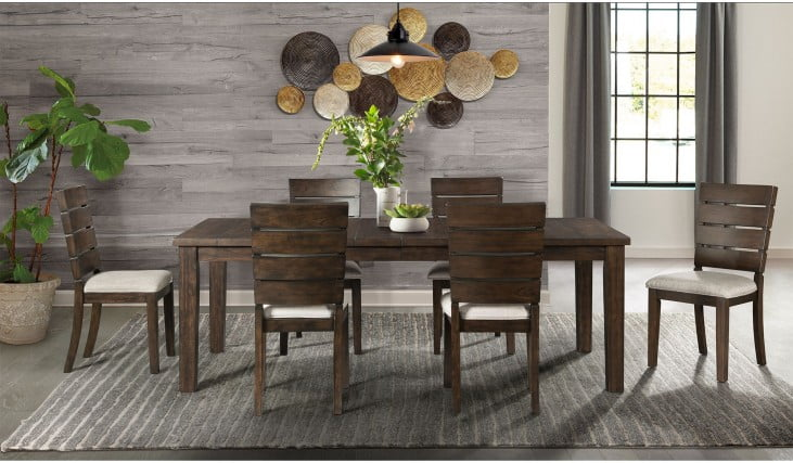Murphy Walnut Extendable Rectangular Dining Room Set