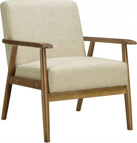 Awe Inspiring Soft Beige Mid Century Modern Accent Chair Cjindustries Chair Design For Home Cjindustriesco