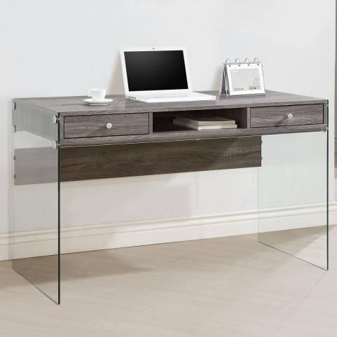 800818 Weathered Gray Computer Desk