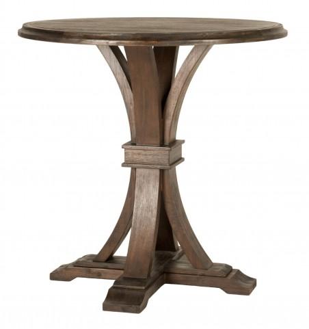 Devon Rustic Java Round Bar Height Dining Table