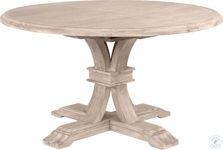 Traditions Natural Gray Devon 54 Round Extendable Dining Table From Orient Express Coleman Furniture