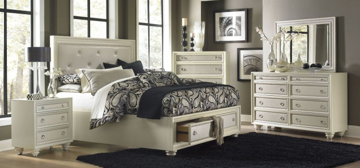 Diamond Island Storage Bedroom Set