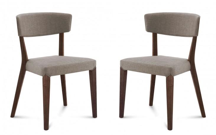 Diana Flirt Sand Chocolate Frame Ashwood Chair Set of 2