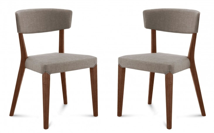 Diana Flirt Sand Walnut Frame Ashwood Chair Set of 2