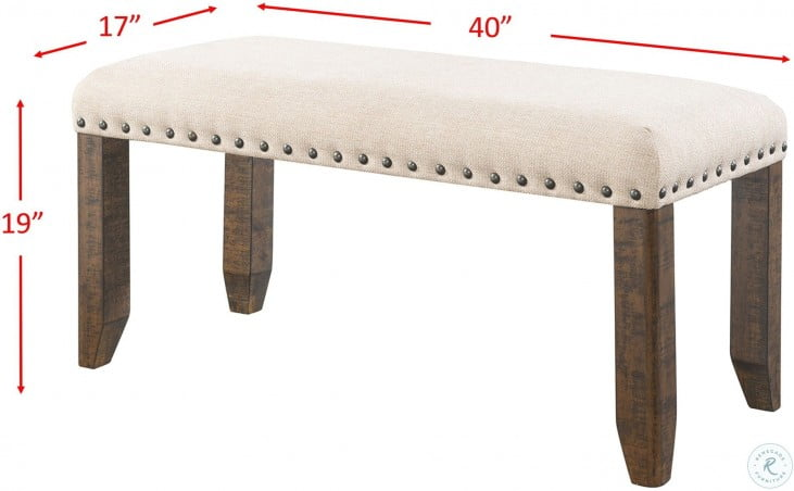 Dex Cream Upholstered Bench From Elements Furniture Coleman Furniture