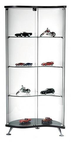 Dm-3010 Curved Glass Curio Cabinet