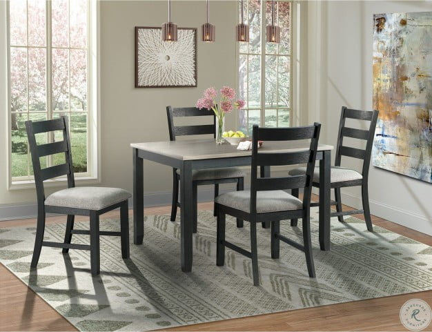Kona Gray And Black 5 Piece Dining Room Set From Elements Furniture Coleman Furniture